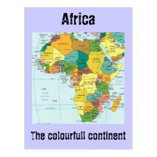 Afrika-Karte Postkarte