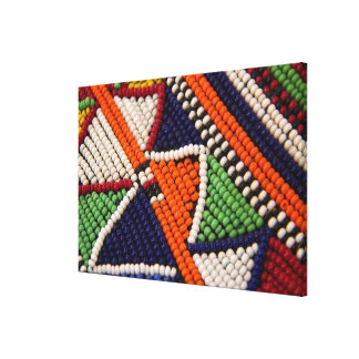 Afrika, Kenia. Maasai Stammes- Perlen Leinwanddruck