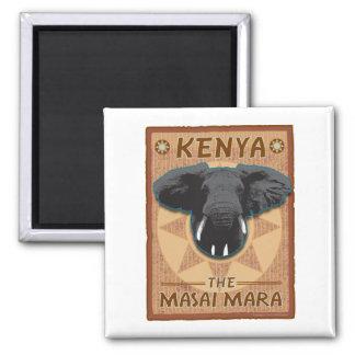 Afrika-Kenia-Magnet Quadratischer Magnet