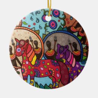 Afrika Keramik Ornament