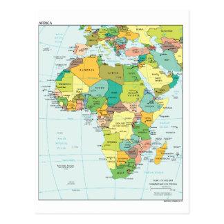 Afrika-Kontinentkarte Postkarte