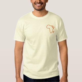 Afrika-Kontur Besticktes T-Shirt