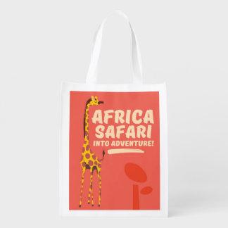 Afrika-Safari in Abenteuer! Wiederverwendbare Einkaufstasche