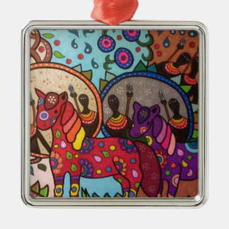Afrika Silbernes Ornament