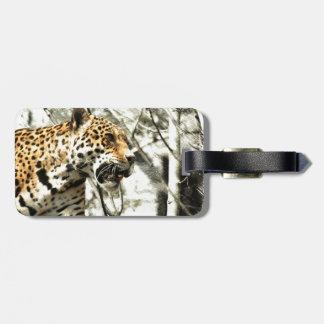 Afrika-Tiersafari tierischer wilder Leopard Kofferanhänger