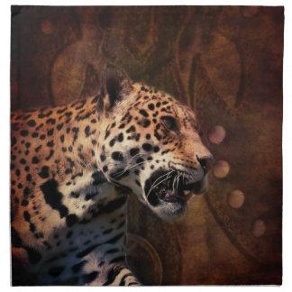 Afrika-Tiersafari tierischer wilder Leopard Serviette