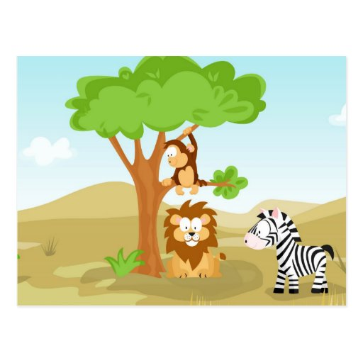 Afrika von meiner Welttier-Reihe Postkarte