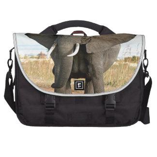Afrikaner-Bush-Elefant, der zum Erfolgsziel marsch Laptop Tasche
