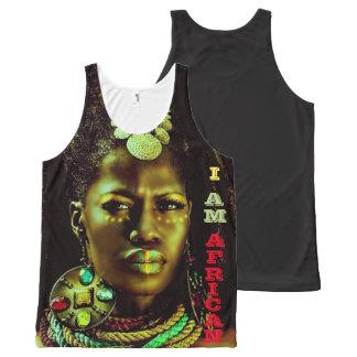 Afrikaner: Ich bin afrikanisch (schwarzer T - Komplett Bedrucktes Tanktop