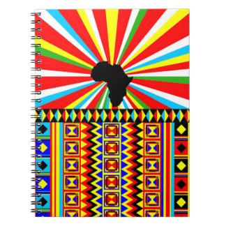 Afrikaner Kente Stoff-Stammes- Druck-Muster bunt Notizblock