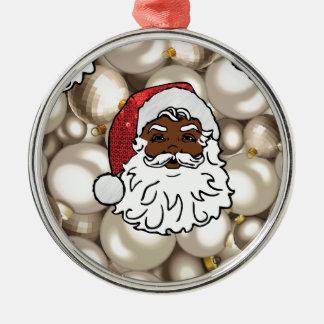 Afrikaner Weihnachtsmann Silbernes Ornament