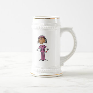 Afrikanische amerikanische Strichmännchen-Krankens Teetassen