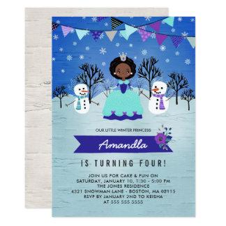 Afrikanische amerikanische Winter-Prinzessin Karte