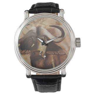 Afrikanische Büffel-Uhr Uhr
