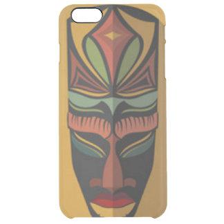 Afrikanische bunte Maske Durchsichtige iPhone 6 Plus Hülle
