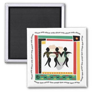 Afrikanische Einheit Quadratischer Magnet