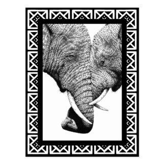 Afrikanische Elefant-Postkarte Postkarte