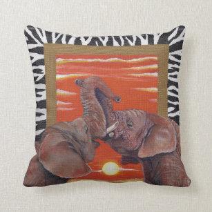 afrikanischer elefant kissen. Black Bedroom Furniture Sets. Home Design Ideas