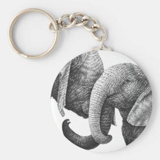 Afrikanische Elefanten Keychain Standard Runder Schlüsselanhänger