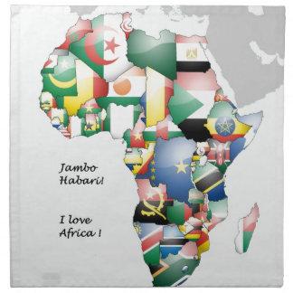 Afrikanische Farben Stoffserviette