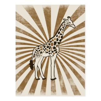 Afrikanische Giraffen-Vorlagen-Kunst Postkarte