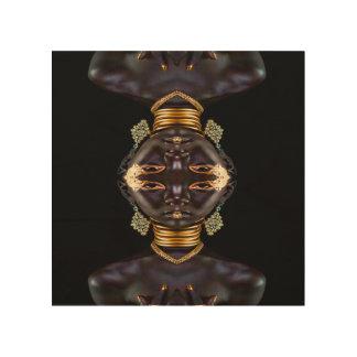 Afrikanische Göttin Holzleinwand