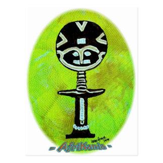 Afrikanische Ikone: Akuaba (Ghana) Postkarte