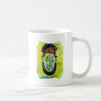 Afrikanische Ikone: Benin-Königinmaske Kaffeetasse