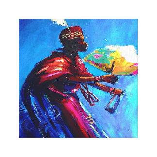 Afrikanische Leinwandkunst (Eyo Schlagzeuger) Leinwanddruck