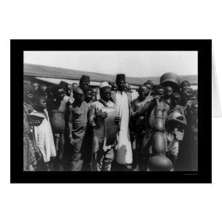 Afrikanische Männer mit Musikinstrumenten Kenia Karte