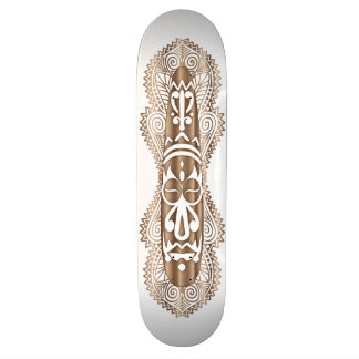 Afrikanische Maske in hölzernem Korn - 3 - Individuelle Skateboards