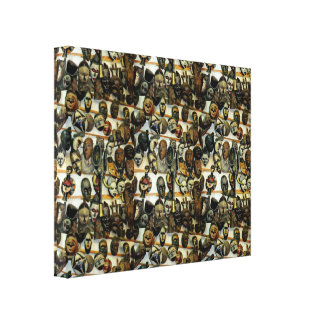 afrikanische maske leinwandbilder designs. Black Bedroom Furniture Sets. Home Design Ideas