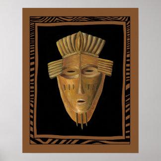 afrika maske poster. Black Bedroom Furniture Sets. Home Design Ideas