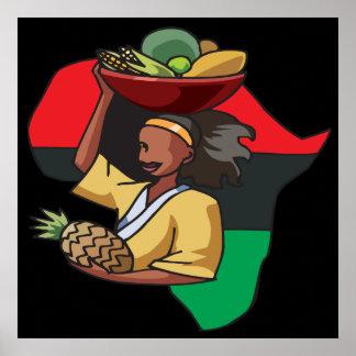 Afrikanische Nahrung Poster