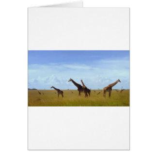 Afrikanische Safari-Giraffen Karte