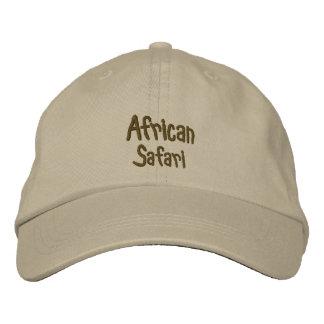 Afrikanische Safari kakifarbig Bestickte Mütze