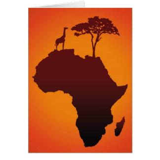 Afrikanische Safari-Karte - Gruß-Karte Karte