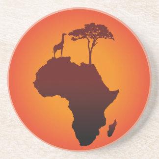 Afrikanische Safari-Karte - Sandstein-Untersetzer Sandstein Untersetzer