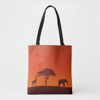 Afrikanische Safari-Silhouette ganz vorbei - Tasche