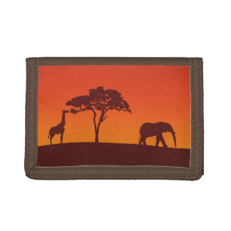 Afrikanische Safari-Silhouette - Geldbörse
