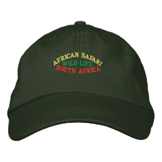 AFRIKANISCHE SAFARI, SÜDAFRIKA BESTICKTE BASEBALLKAPPE