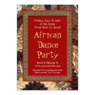 Afrikanische Stammes- 12,7 X 17,8 Cm Einladungskarte
