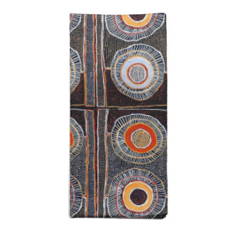 Afrikanische Stammes- abstrakte Kunst Stoffserviette