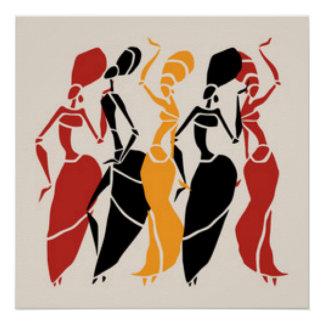 Afrikanische Tanzen-Damen Poster