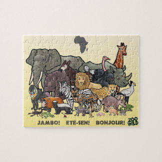 Afrikanische Tiere - Puzzle