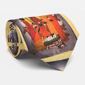 Afrikanische WeihnachtsGeburt Christis-Szene Personalisierte Krawatte