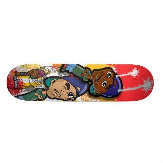 Afrikanischer amerikanischer angesagter personalisierte skateboarddecks