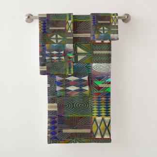 Afrikanischer Art-Patchworkentwurf Badhandtuch Set