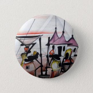 Afrikanischer Dekor und Abnutzung Runder Button 5,7 Cm