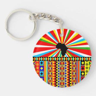 Afrikanischer Druck Kente Stoff-Stammes- Muster Schlüsselanhänger